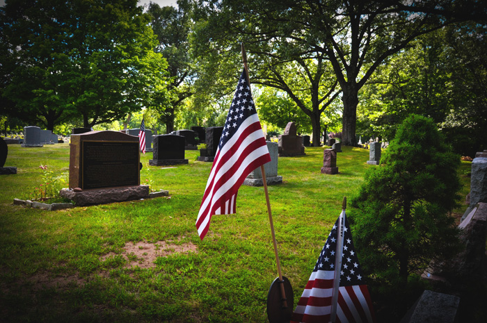 Many veterans are buried at Oak Hill Cemetery